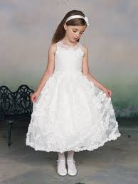joan calabrese communion dresses gown sleeveless ankle length white special occasion