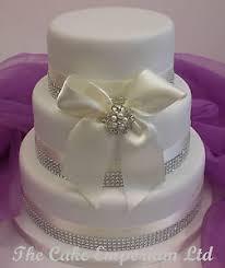 wedding cake topper bride u0026 top hat groom diamante ribbon pack ebay