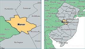 mercer map mercer county jersey map of mercer county nj where is