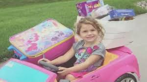 fills barbie car gifts neighbors lost