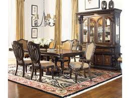 dining room sets with fabric chairs grand rapids double pedestal rectangular dining table morris