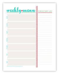 printable blank meal planner menu planning template meal plan template pdf awesome the best menu
