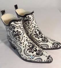 white boots for womens size 9 corkys rubber muck ankle boots womens size 9 black and white