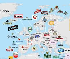 Map Of Ireland And England by World Beer Map Shows Every Country U0027s Most Popular Brew Daily