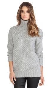 turtle neck sweaters demylee ruth turtleneck sweater in light grey revolve