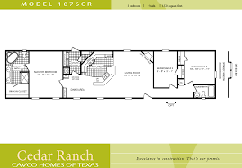 single home floor plans cavco homes floor plan 1876cr 3 bedroom 2 bath single wide floor
