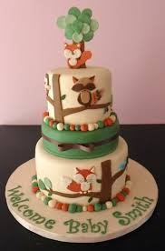 remarkable woodland themed baby shower cake 14 in diy baby shower