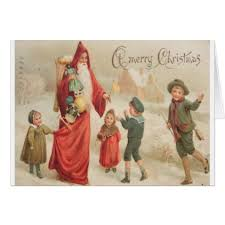 vintage merry card cards merry family