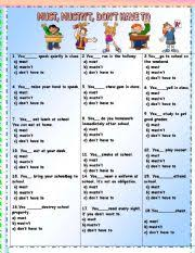 english worksheets must worksheets page 15