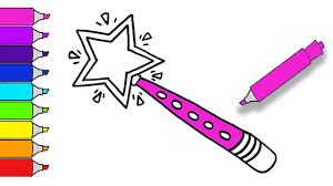 how to draw a magic princess fairy wand teach drawing for kids