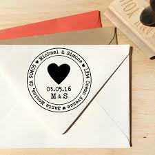 heart address stamp for save the dates u0026 wedding invitations with
