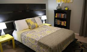 bedding set gripping yellow grey black and white bedding