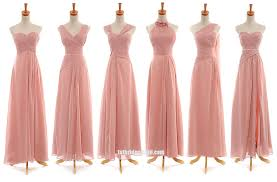 pink bridesmaid dresses 6 styles design floor length pink bridesmaid dresses