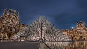 paris circa october 2012 time lapse of the louvre museum circa