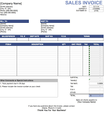 free sales invoice template excel pdf word doc sample table