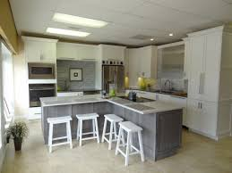 woodharbor designer white kitchen silverwood island alley design