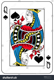 spades card inspired by stock vector 620387156
