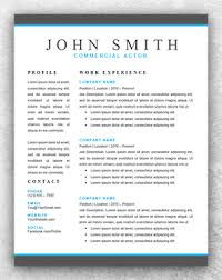 Actors Resume Template Actor Resume Template Word Resume Template Start
