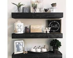 Black Bathroom Shelves Floating Shelves Etsy