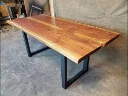 making a live edge table making a walnut live edge dining table four fields furniture youtube