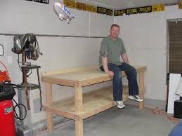 Plans For Building A Woodworking Bench by Garage Workbench Drawers Woodworking Table Plans Garage