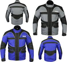 cheap motorbike jackets new mens ce armoured waterproof motorbike jacket cordura quilted