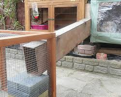 Cheap Rabbit Hutch Covers Connected A Rabbit Hutch A Run Ramps And Tunnels