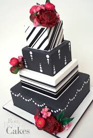 cake inspiration ron ben isreal wedding cakes black white red