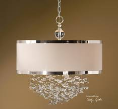 Drum Light Pendant Uttermost Fascination 3 Light Slken Drum Pendant 21908