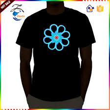 custom light up t shirts led shirt by china factory custom sound activated shirt beat to the