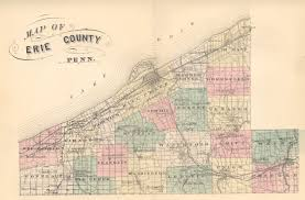 Pennsylvania County Map by Erie County Atlases
