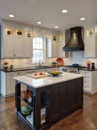 White Backsplash For Kitchen by White Cabinets With Black Countertops Houzz