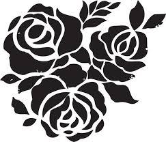Floral Wall Stencils For Bedrooms Best 25 Flower Stencils Ideas On Pinterest Flower Silhouette