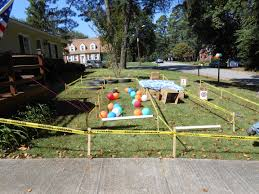 obstacle course for the