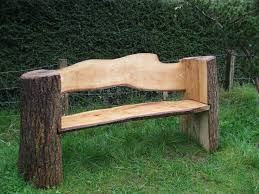 Diy Wooden Garden Bench by 25 Best Log Benches Ideas On Pinterest Rustic Cleavers Log