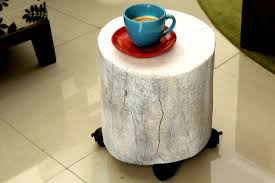 Stump Chair Furniture Traditional White Tree Stump Table Design With Tile
