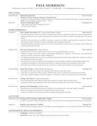 Resume Sample Of A College Student by Resume For Current College Student Resume Examples 2017