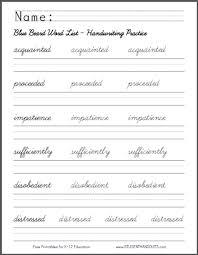 free worksheets practise cursive handwriting worksheets free
