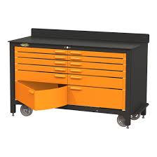 swivel 12 drawer 60 inch rolling workbench amazon com