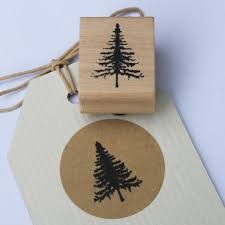 east of india christmas tree rubber stamp realistic xmas tree craft