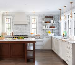 kitchen nice subway tile backsplash nice countertop l shape
