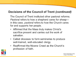 Council Of Trent Reforms The Council Of Trent Church History Unit 4 The Counter