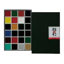 amazon com akashiya japanese gansai watercolor palette box 24