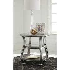 Ashley Furniture Bedroom End Tables Coralayne Round End Table By Ashley Furniture T820 6 Ashley