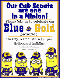 Minions Invitation Card Blue And Gold Banquet Ideas The Boy Scout Utah National Parks