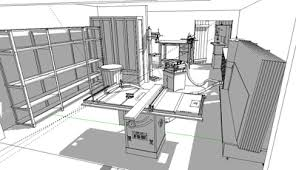 wood workshop layout images shop layout using sketchup and the 3d warehouse