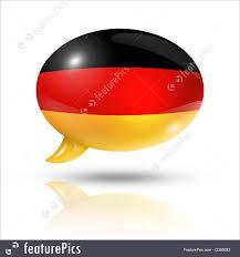 Germman Flag Flags German Flag Speech Bubble Stock Illustration I3369283 At