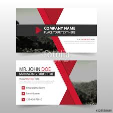 layout banner template red corporate business card name card template horizontal simple