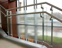 Stair Banister Glass Dot Architectural Glass Railing Park Nicollet Sc Railing