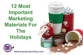 12 most important marketing materials for the holidays